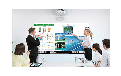 projector interactive multitouch output