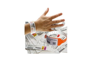 printer label wristband output