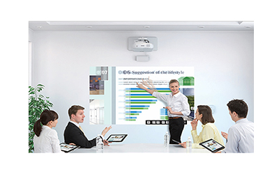projector interactive scroll touch output