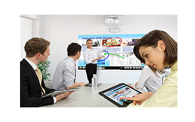 projector interactive whiteboard sharing output